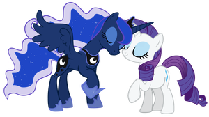 another Rarity and Luna vector by LunarMarex