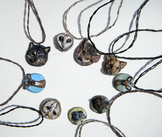 Animal necklaces by dalmatianluver