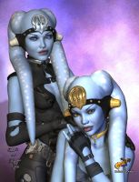 Uhet'i and A'yesha by intrepid1708