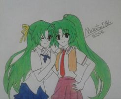 Sonozaki Twins by ManatheDMG