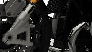 3D MODEL BMW R NINE T - Close Up 02 by lok0822