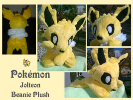 Jolteon Beanie Plush by methuselah-alchemist