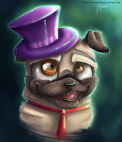 Sir Puggington by anouki-morgenstern
