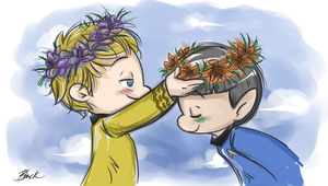 Spirk - Flower Crown by caycowa