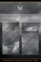 3 Stormy Clouds Pack by lynel04-stock