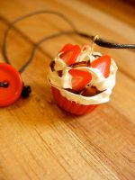 Strawberry Chocolate Cupcake by Bee-Delicious