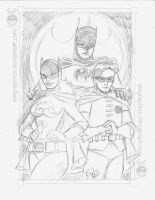 60s Bat Crew Pencils by EryckWebbGraphics