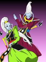 Dragon Ball Super - Whis vs Vados [DBS] by Cheetah-King