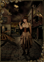 Steampunk Alley by DragonDew