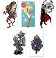 Mutants And Masterminds Characters by Inhuman00