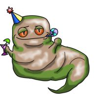 Big Fat Party Slug by greenlikethesky