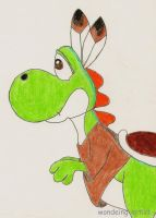 Yoshi drawing from summer 1999 by wondering-artist