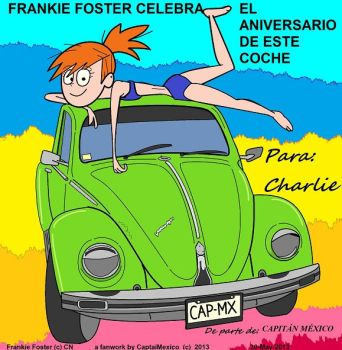 Frankie Foster and green beetle by CaptainMexico