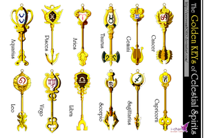 The 12 Golden KEYs of Celestial Spirits by icecream80810