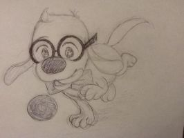Puppy Peabody Fetch by rjdog116