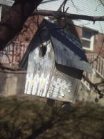 Faded Birdhouse by flamingpig