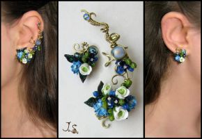 Ear cuff and stud by JSjewelry