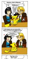 APH x Pokemon: Lost In Translation - Pikachu by Maru-sha