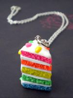 Rainbow Cake Necklace by Noviel
