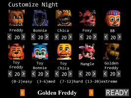 Golden Freddy in FNAF2 by CrystalisZelda