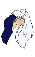Just a kiss: Inuyasha x Kagome by theNekk