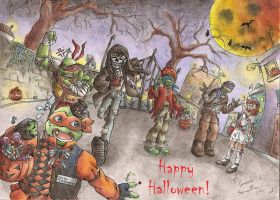 TMNT: Happy Halloween! by Samy-Consu