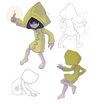 Little nightmares sketches by toondraw