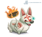 Daily Paint #981. Corgi Amaterasu (FA) by Cryptid-Creations