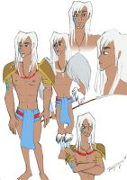 Prince of Atlantis- coloured by Kayleeya778