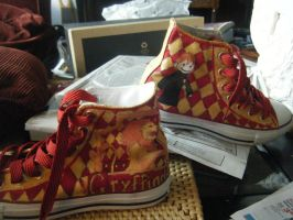 Gryffindor Shoes by OnceISawACow