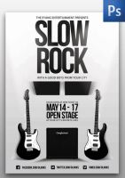 Slow Rock Flyer Template by ThinHo