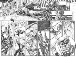 Batman Sample Page 01 and 02 by caiocacau