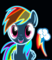 Neon Rainbow Dash by ZantyARZ