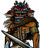 Tlingit Warrior by Nemodemos