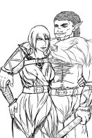 Brosh and Evelyn Line Art GOOD by Nefferduat