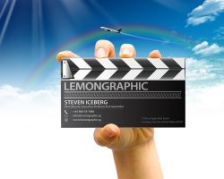 Business card mock-up 05 by Lemongraphic