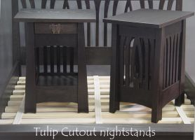 Tulip cutout nightstands by DryadStudios