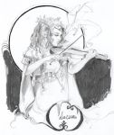 Deep melody - pencil by Fayerin