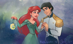 Merry Christmas from Ariel, Eric, and ME! by relsgrotto