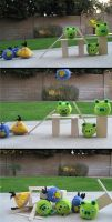 Angry Birds Plush Playset by Skylanth