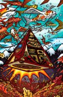 311 Fall Tour 2005 Poster by artzrevolution