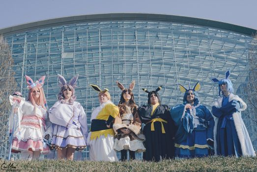 eeveelutions group by Dark-Wolf-Grayson