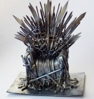 Iron Throne miniature by Matsue-Faust