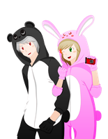 Prussia and Hungary Kigurumi Colored Ver. by Michalv