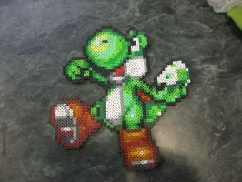 Perler Yoshi tossing an Egg by rushtalion