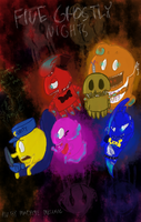 You Got Five Ghostly Nights [REVAMPED FGN POSTER] by ArtLovingCatGirl