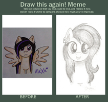 Raini: Before and After by BlueRainiPony