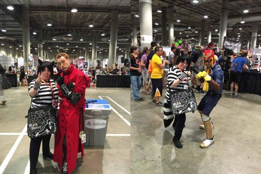 Chesh with Other Cosplayers at Anime Expo 16 pt 8 by Black--Cheshire