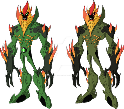 Swampfire and  Eu'Mus Ailutos Earth 27 by Upgraderath