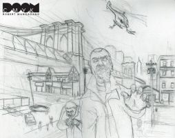 Zombie GTA sketch by DoomCMYK